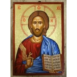 Jesus Christus der Segnende (1) - Einfacher Rahmen