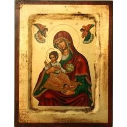 Mutter Gottes von Korfu (8) - Vertiefter Rahmen