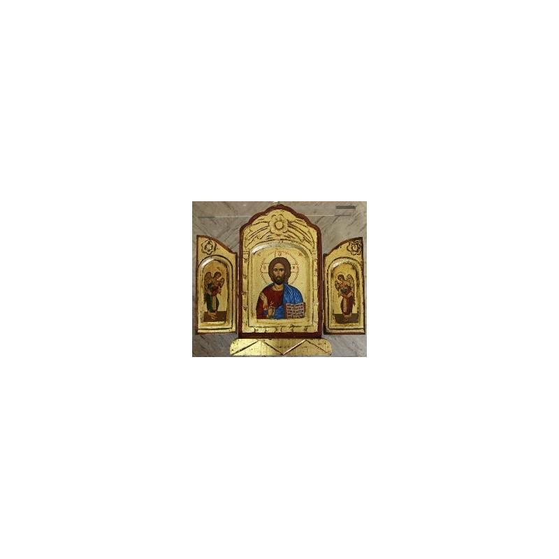 Jesus Christus der Segnende (1) - Triptychon