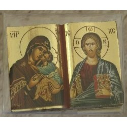 Madonna und Jesus in Buchform