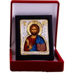 Jesus Christus der Segnende (1) - Silber / Gold im Etui